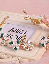 rosa grinaldas headband da flor para o casamento senhora de cabelo jóias partido de feriado,