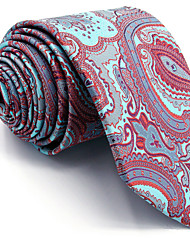 Men's Necktie Tie For Men 100% Silk Light Blue Paisley Jacquard Woven Business Dress Casual Wedding Extra Long