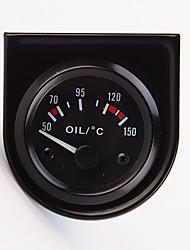 """2 """"52mm 12v Universal-Auto Zeiger Öltemperatur Temperaturanzeige 40-120 weiße LED"""