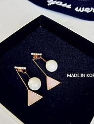Earring Geometric Drop Earrings Jewelry Women Fashion Daily Alloy 1 pair Gold