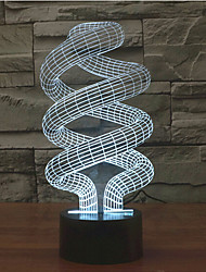 spirale tactile gradation 3d conduit de lumière de nuit lampe atmosphère décoration 7colorful éclairage nouveauté lumière de Noël