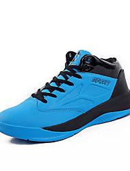 Masculino-Tênis-Conforto-Rasteiro-Preto Azul Vermelho Azul Real-Microfibra-Para Esporte