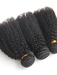 Halloween 3 Bundles 300G Unprocessed Virgin Curly Human Hair Weaves Afro Kinky Curly Hair