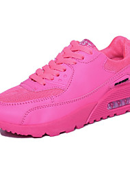Damen-Sneaker-Outddor Sportlich-Kunstleder-Plateau CreepersSchwarz Grün Rosa