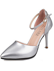 Women's Shoes Leatherette Stiletto Heel Heels Heels Wedding / Party & Evening Black / Pink / White / Silver / Gold