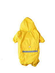 Dog Rain Coat Red / Yellow Winter / Summer / Spring/Fall Color Block / Solid Waterproof Dog Clothes / Dog Clothing-Other