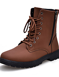 Men's Fashion Boots Casual/Outdoor/Work Microfiber Leather Walking Hight Cut Boots