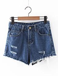 Pantalon Aux femmes Short / Jeans simple Polyester Micro-élastique