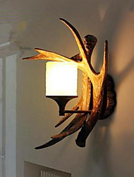 Resin Wall Light Aisle Lights Creative Balcony Bed For A Long Antlers Single Head Lamp