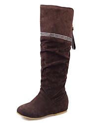 Women's Boots Winter Snow Boots / Round Toe Dress Low Heel Sparkling Glitter Black / Brown / Almond Others