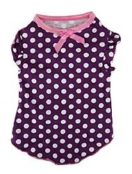 Lovely Polka Dots Pattern Pet T-Shirt