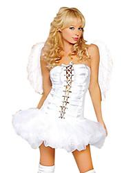 Costumes Vampire / Ange et Diable Halloween / Noël / Carnaval / Nouvel an Blanc Vintage Térylène Robe / Ailes / Chaussettes