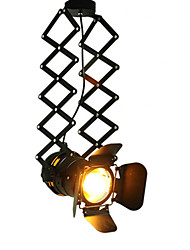 Vintage LED Track Light lofl industrial Spotlight pendant light black track lights spotlights clothes store ceiling lamp