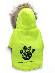 Dog Coat / Coat Single color/ Winter  Floral / Footprint Keep Warm