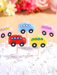 partido decoración de velas de cumpleaños de ajuste (5 piezas) autobuses lindo pequeñas velas