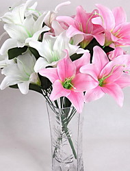 10 10 Филиал Пластик / Другое Лилии Букеты на стол Искусственные Цветы 43*15