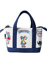 flor Princess® Feminino Lona Bolsa de Mão Azul-1604QS03