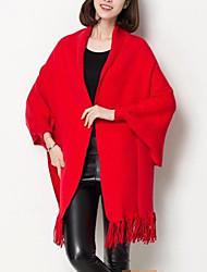 Women Lamb Fur Scarf,Vintage / CasualSolid