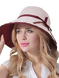 Feminino Casual Algodão Verão Chapéu de sol