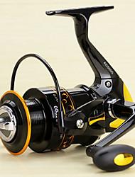 Carretes para pesca spinning 5.2/1 13 Rodamientos de bolas Intercambiable Pesca al spinning Pesca de Cebo-AD2000-5000