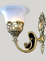 Bronze Wall Sconces Lights Moire-Glass European Retro Classic 220V