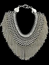 Silver Plated Statement Chain Tassel Bracelet