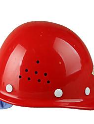 pe vermelho lin dun capacete de fibra de vidro