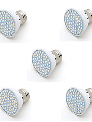 5pcs 2W 250-300LM E27 60MD Plant Grow Light 20Blue 40Red Full Spectrum Plant Bulb for Flower Vegetable(AC220-240V)