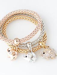 Damen Ketten- & Glieder-Armbänder Modisch Aleación Kreisform Silber Golden Rotgold Schmuck Für Hochzeit 1 Set