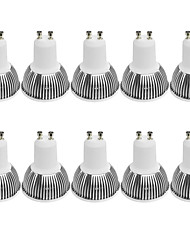 3W GU10 LED Spotlight MR16 1 COB 380LM lm Warm White / Cool White Dimmable / Decorative AC 100-240 / AC 110-130 V 10 pcs