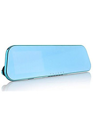 Rear View Mirror Vehicle Recorder 1080P A Large Number Of Spot Blue Mirror 4.3 Inch Screen With Reversing Visual