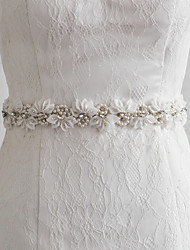 Satin Wedding / Party/ Evening / Dailywear Sash - Beading / Appliques / Pearls / Floral Women's Sashes