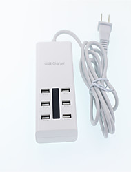 Multi-port USB Travel Fast Filling Head Socket With LED Light Mobile Phone Charger for Universal