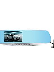 duplo espelho retrovisor lente tacógrafo ling grau hs650b hd 1080p inversão de controle de estacionamento