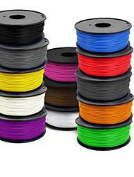 400 (m) 3 d fournitures d'imprimante 1.75 mm abs 1 kg d'un rouleau, 1,0 (g / cm3), couleur aléatoire