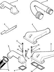 Cummins peças de motor de ar automóvel através do tubo 3016138