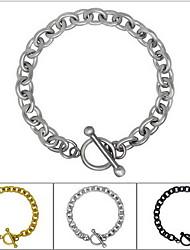 Homme Femme Chaînes & Bracelets Bracelets d'identification Style Punk Personnalisé Simple Style Mode Acier au titane Forme de Croix Bijoux