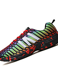 Men's Sneakers Spring Summer Fall Winter Comfort PU Casual Athletic Flat Heel Others Green Red Gray