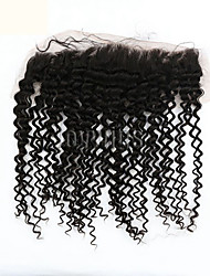 Kinky Curly Cheveux humains Fermeture Brun roux gramme Cap Taille