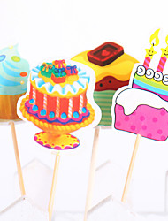 Birthday Party Tableware-20Piece/Set Cake Accessories Tag Wood Rustic Theme Other Non-personalised