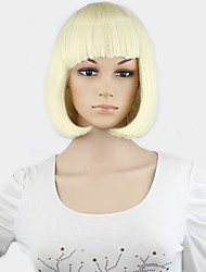 1PC Women Short Bobo Wigs European Straight Synthetic Kanekalon Hair Wig Heat Resistant Afro Natural U Part Wig