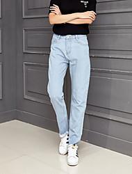 Damen Hose - Einfach Jeans Polyester Unelastisch