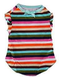 Comfortable Stripe Pattern Pet T-Shirt