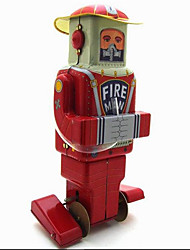 Novelty Toy Puzzle Toy  Educational Toy Wind-up Toy Novelty Toy  Warrior  Robot Metal Red For Kids