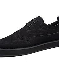 Herren-Flache Schuhe-Lässig-Kunststoff-Flacher AbsatzSchwarz Blau Grau