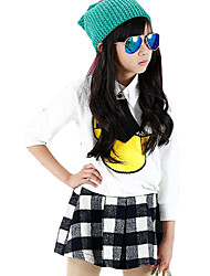 Girl's Casual/Daily Check Skirt,Others Summer Black