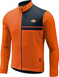 Sports® Cycling Jersey Men's Long Sleeve Breathable / Thermal / Warm / Front Zipper / Wearable / Ultra Light Fabric Bike TopsLYCRA® /