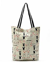 lindo coreano de la lona del oso bolsa de la compra de tela Práctica bolsas de supermercado
