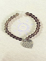 Women Alloy Silver Heart Cut Strand Bracelets