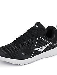 Femme-Décontracté-Noir / Blanc / Noir et blanc / Bleu royal-Talon Plat-Confort-Sneakers-Tulle